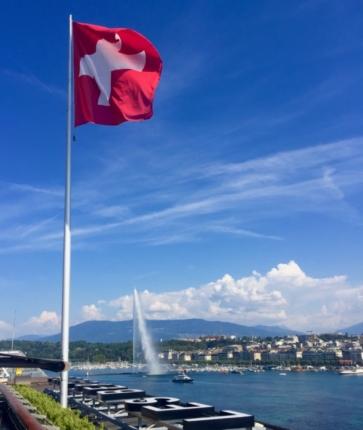 Classy colibri à l'Hôtel des Bergues Genève Suisse