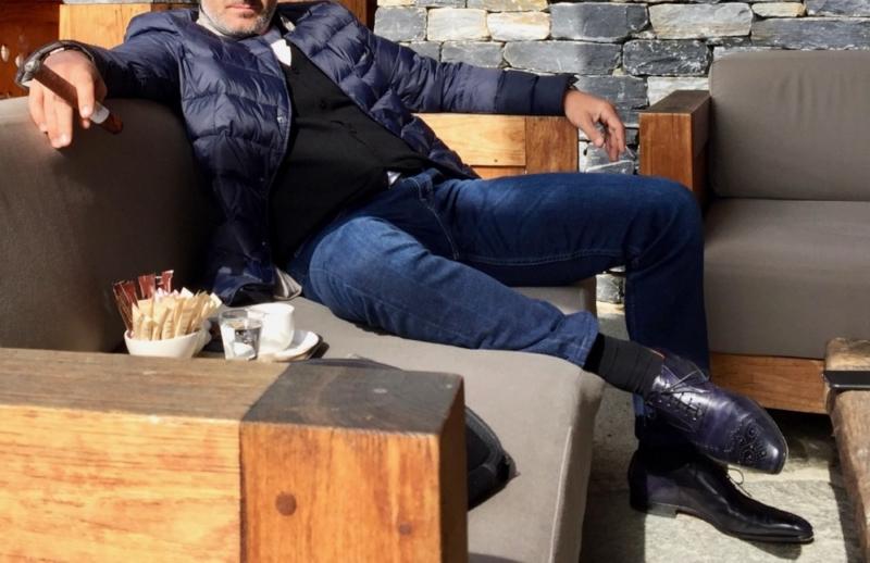 Classy colibri on Santoni shoes soullier richelieu