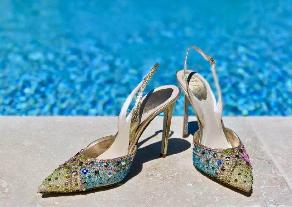 Classy colibri on René Caovilla shoes Venice Venezia