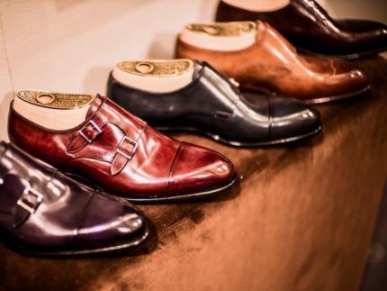 Santoni monk strap shoe